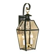 Norwell Lighting Olde Colony 2-Light Outdoor Wall Lantern; Black