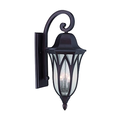 Acclaim Lighting MarbleX Milano 3-Light Outdoor Wall Lantern; Architectural Bronze