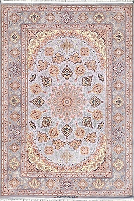 Pasargad Isfahan Hand-Kntotted Grey Area Rug
