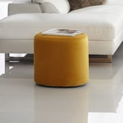 Bellini Modern Living Carmen Accent Stool; Yellow