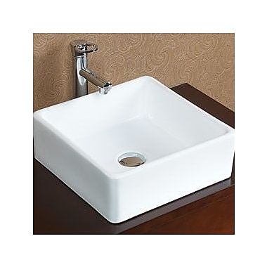 Ronbow Tapered Ceramic Square Vessel Bathroom Sink