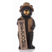 Hi-Line Gift Ltd. Bear Standing w/ Welcome Sign Statue