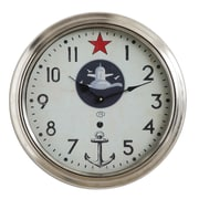 Creative Co-Op Waterside 16'' Metal Wall Clock w/ Star and Anchor