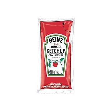 Heinz Ketchup Portion, 8 mL, 500/Pack
