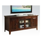A&J Homes Studio Hanna TV Stand; Chocolate
