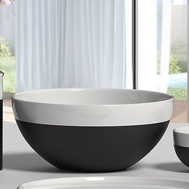 Magisso White Line 9.4'' Naturally Cooling Ceramic Serving Bowl
