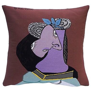 Jules Pansu Le Chapeau de Paille au Feuillage Bleu Throw Pillow