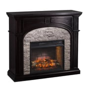 Wildon Home   Nash Stacked Infrared Electric Fireplace; Ebony and Gray