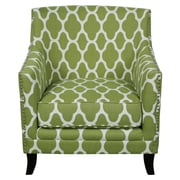 Porter International Designs Cassie and Arabesque Arm Chair; Apple Green and White