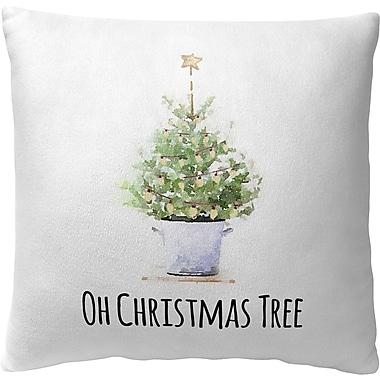 Kavka Oh Christmas Tree Fleece Throw Pillow