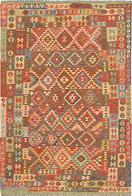 ECARPETGALLERY One-of-a-Kind Istanbul Yama Handmade Wool Brown/Red Area Rug