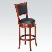 ACME Furniture Chelsea Swivel Bar Stool w/ Cushion; Oak