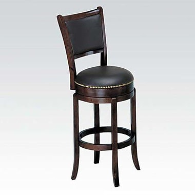 ACME Furniture Chelsea Swivel Bar Stool w/ Cushion; Espresso