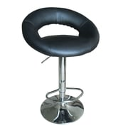 ACME Furniture Sybill Adjustable Height Swivel Bar Stool (Set of 2); Black