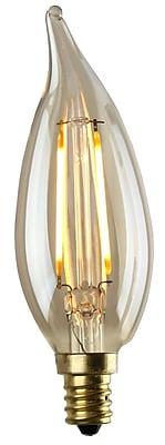 Luminance 2 Watt LED CA12 Flame Tip Nostalgia Filament Bulb 12/Pack (L7580-1/RP12)