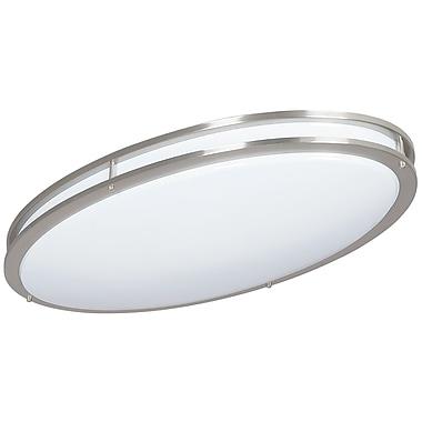 Luminance LED Oval Ceiling Mount, Bright Satin Nickel (F9917-80)