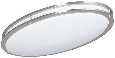 Luminance LED Oval Ceiling Mount, Bright Satin Nickel (F9917-80)