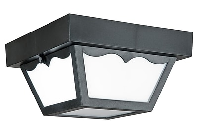Luminance LED Integrated Outdoor Flush Mount, Black (F9025-31)