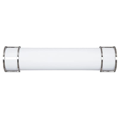 Luminance LED Integrated Bathroom Vanity Strip, Bright Satin Nickel (F9989-80)