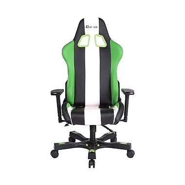Clutch Chairz – Chaise de jeu et d'ordinateur Bravo, noir, vert et blanc