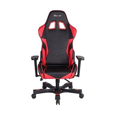 Clutch Chairz – Chaise de jeu et d'ordinateur Charlie Crank, noir et rouge