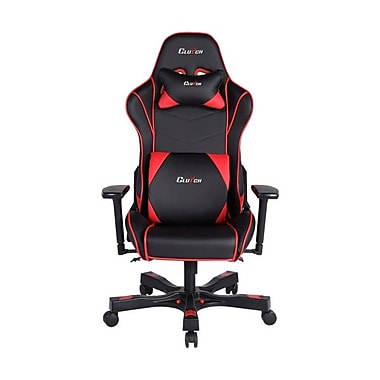Clutch Chairz – Chaise de jeu et d'ordinateur Delta Crank, noir et rouge