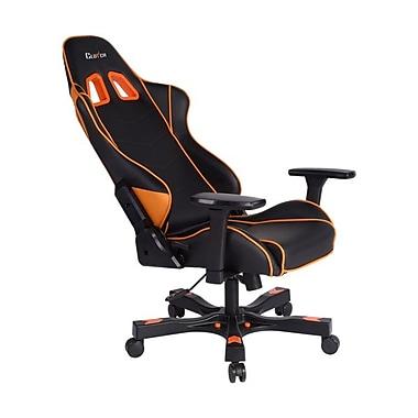 Clutch Chairz – Chaise de jeu et d'ordinateur Delta Crank, noir et orange