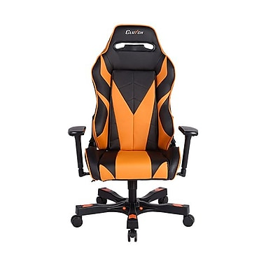 Clutch Chairz – Fauteuil de jeu ou d'ordinateur série Gear-Bravo, noir et orange