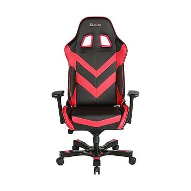 Clutch Chairz – Chaise de jeu et d'ordinateur Charlie Throttle, noir et rouge