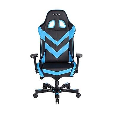 Clutch Chairz – Chaise de jeu et d'ordinateur Charlie Throttle, noir et bleu