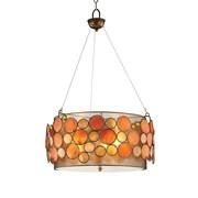 OK Lighting Capiz Shell 3-Light Pendant