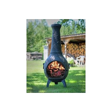 The Blue Rooster Aluminum Wood Burning Chiminea; Charcoal
