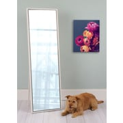 Kate and Laurel Evans Wood Framed Free-Standing Mirror; White