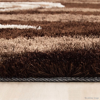 AllStar Rugs Hand-Tufted Brown Area Rug; 4'11'' x 6'11''