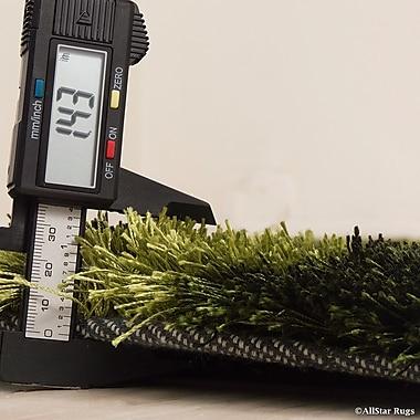 AllStar Rugs Hand-Tufted Green Area Rug; 7'11'' x 10'5''