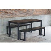 Elan Furniture Loft 3 Piece Dining Set; Textured Black