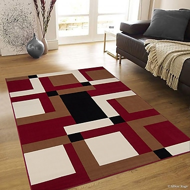 AllStar Rugs Hand-Woven Red/Brown Area Rug; 7'7'' x 10'6''