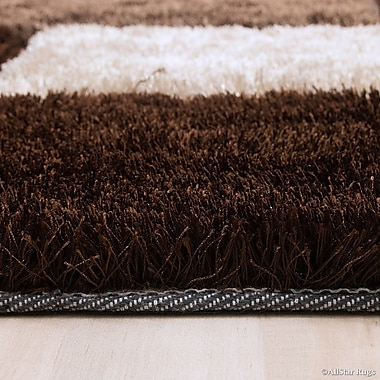 AllStar Rugs Hand-Tufted Brown/Ivory Area Rug; 4'11'' x 6'11''