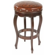 New World Trading Colonial 30'' Bar Stool; Antique Brown