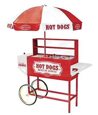 Nostalgia Electrics Vintage Carnival Hot Dog Cart w/ Umbrella WYF078277387447