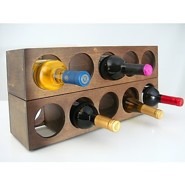 Proman Rutherford 5 Bottle Tabletop Wine Rack (Set of 2); Vine