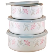 Corelle Pink Trio 3 Container Food Storage Set
