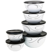 Corelle Simple Lines 6 Container Food Storage Set