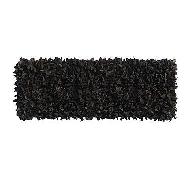 Ess Ess Exports Handmade Black Area Rug; Runner 2' x 7'7''