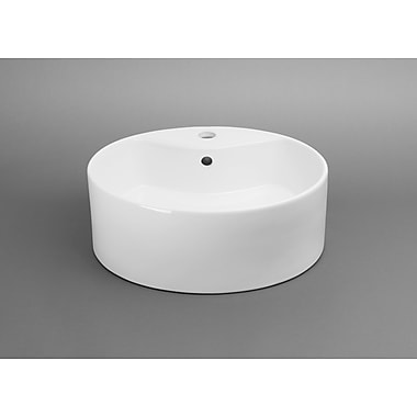 Ronbow Ceramic Circular Vessel Bathroom Sink w/ Overflow