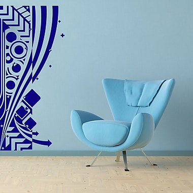 Style and Apply Abstract Modern Wall Decal; Turquoise