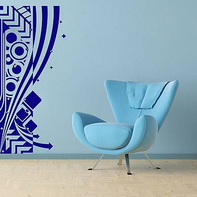 Style and Apply Abstract Modern Wall Decal; Light Pink