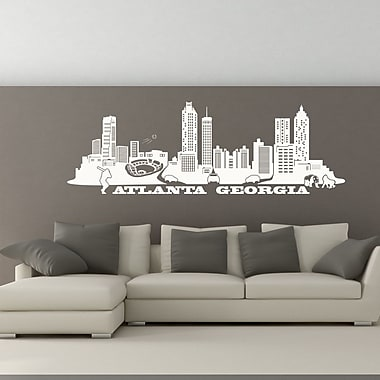 Style and Apply Atlanta Skyline Wall Decal; Hazelnut