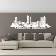 Style and Apply Atlanta Skyline Wall Decal; Black