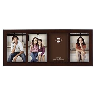 Prinz 4 Opening Carolina Solid Wood Picture Frame; Dark Walnut